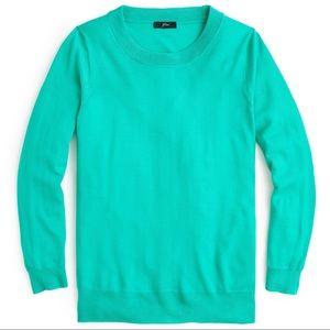 NWT J.Crew Tippi Sweater Merino Wool, Bright Kelly